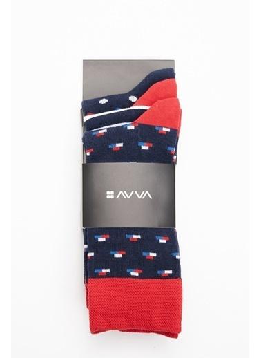 Avva 3'lü Çorap Lacivert